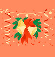 flat of christmas decoration vector image