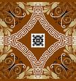 floral greek seamless pattern ornamental vector image vector image