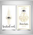 fortune teller spiritual coach mystic healer vector image