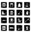 Garbage thing icons set vector image vector image