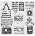 grunge wooden plank vector image vector image