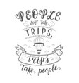 hand-lettering quote travel and hot vector image vector image