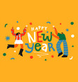 happy new year celebration toast party drink card vector image