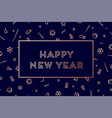 happy new year greeting card new year vector image vector image