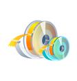 icon scotch tape vector image vector image