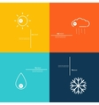 Icons indicate weather clear cloudy rain snow vector image