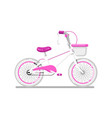 kids bicycle for girl isolated icon vector image vector image