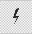 lightning bolt icon on transparent background vector image