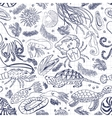 Marine seamless pattern for your design Cafe vector image vector image