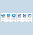 mobile app onboarding screens business and office vector image