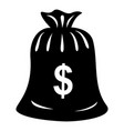 money bag icon simple black style vector image vector image