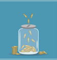 money saving jar vector image vector image