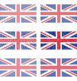 Mosaic United Kingdom flag set vector image vector image