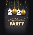 new year party gift card vector image vector image