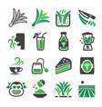pandan icon set vector image vector image