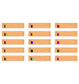 plank and paint icons vector image vector image