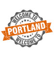 portland round ribbon seal vector image vector image