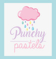 punchy pastel concept vector image