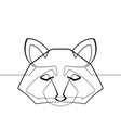 raccoon one continuous line abstract graphi vector image vector image