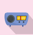 radio receiver icon flat style vector image vector image