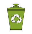 recycle can vector image vector image
