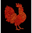 red rooster cock symbol chinese new year 2017 vector image
