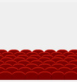 rows of red cinema vector image