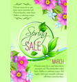 sale floral poster of spring shopping promo vector image vector image