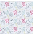 School back pattern vector image