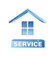 service house symbol vector image vector image