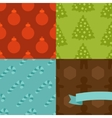 Set of Merry Christmas and Happy New Year seamless vector image vector image
