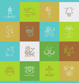set of sea travel icons vector image vector image