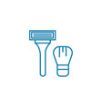 shaving linear icon concept shaving line vector image