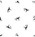 shepherd dog pattern seamless black vector image vector image