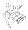 sketch set of cosmetic products vector image vector image