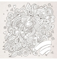 sketchy doodles hand drawn art and craft vector image