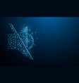speaker mute icon vector image