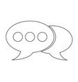 speech bubble icon vector image