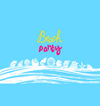 summer template tropical beach party banner vector image