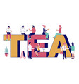 tea typography banner template flat vector image vector image