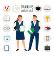 teenagers college students young student people vector image