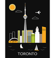 Toronto city vector image