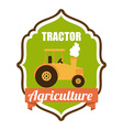 tractor design vector image vector image
