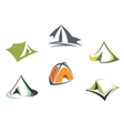 Travel and adventure camp tents vector image vector image