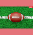 White line and american football ball on Sport vector image