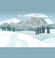 winter landscape snowy mountains on a blue sky vector image