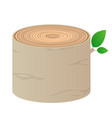 wood cartoon log isolated objects tree vector image