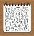 notebook design floral design vector image