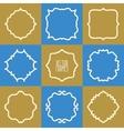Set of abstract hipster logo badges frames vector image