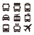 Public transport icons vector image